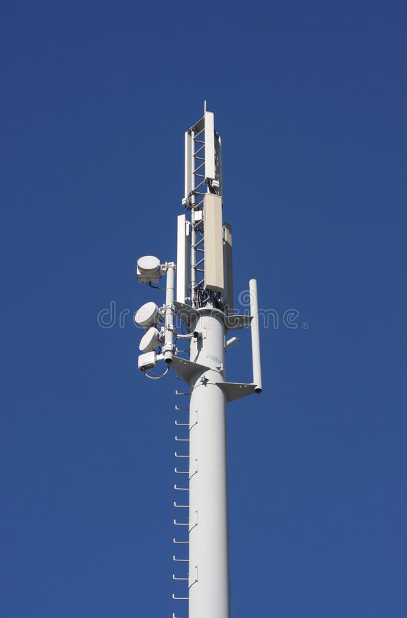 Cell site aerials. stock photo