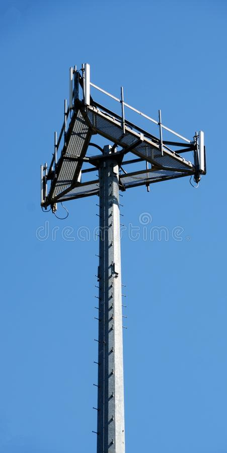 Cell Site Microwave Tower Royalty Free Stock Image