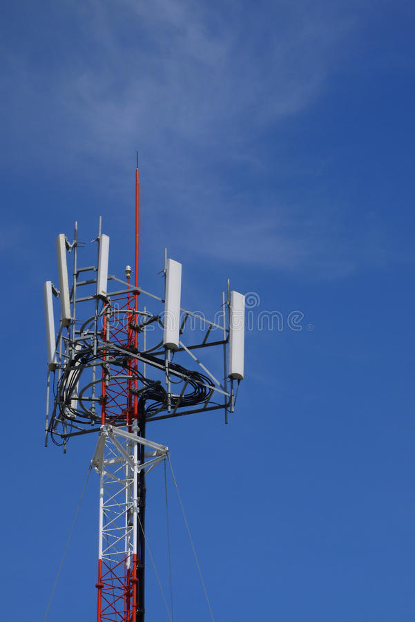 Download Cell Site Tower With Blue Sky. Stock Image - Image: 25881597