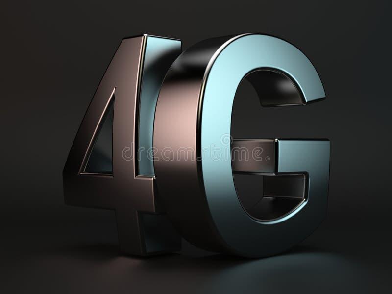 cell- snabb logo för begrepp för anslutning för data 4G royaltyfri illustrationer