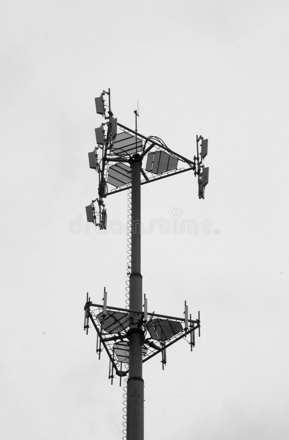 Cell tower royalty free stock photo