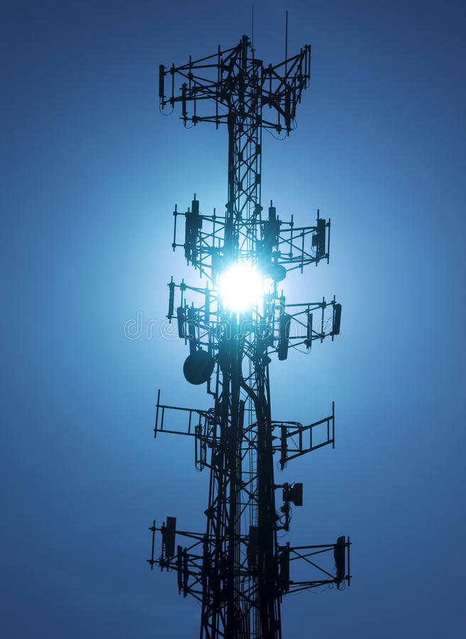 Cell tower#2 royalty free stock photo