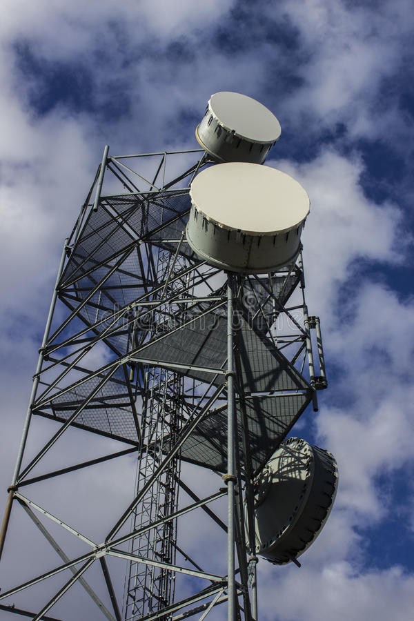 Cell Tower from Below royalty free stock image