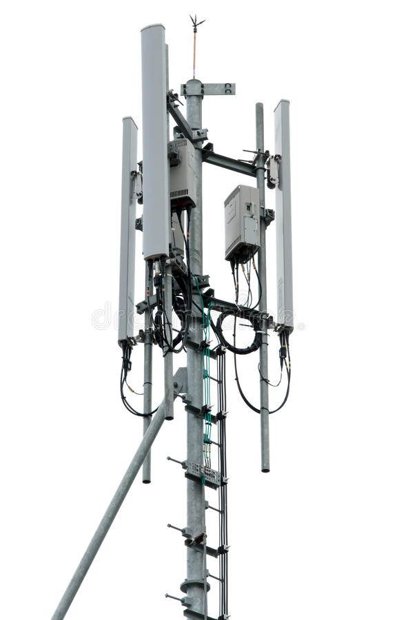 Cell tower and radio antenna.  stock image