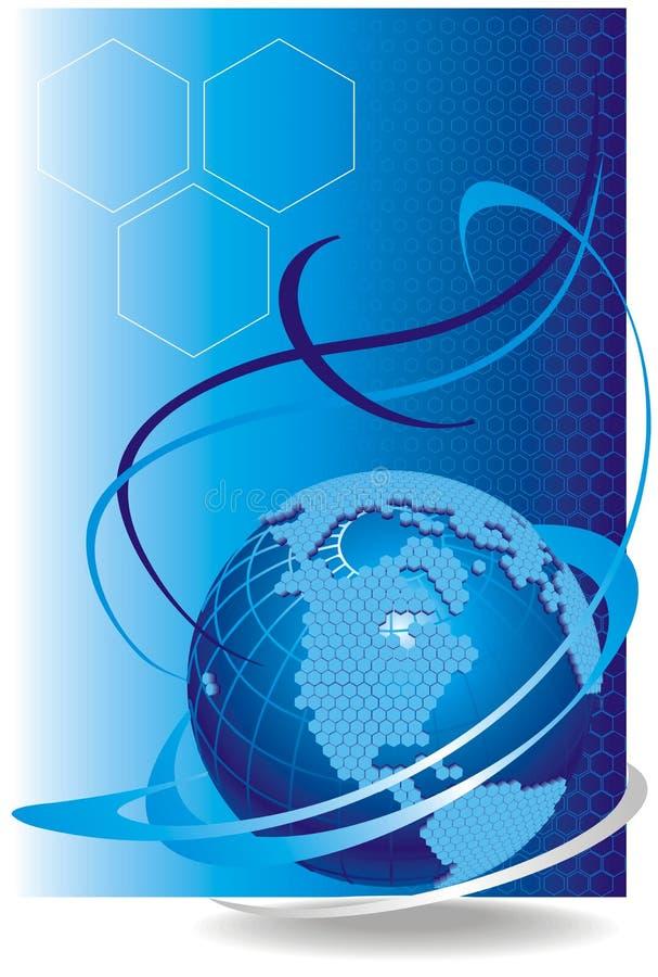 cell- vektor för globalt nätverk stock illustrationer