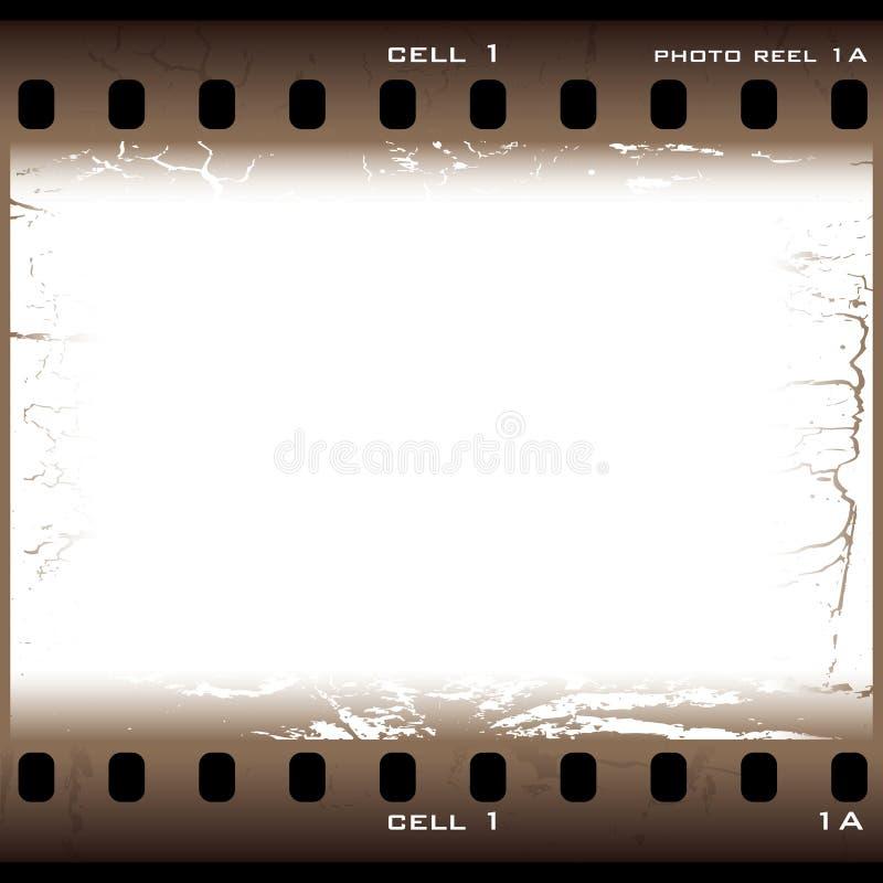 Cella della pellicola del grunge del Brown illustrazione vettoriale