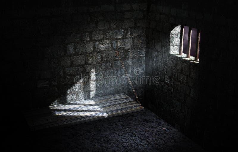 Cella di prigione illustrazione di stock