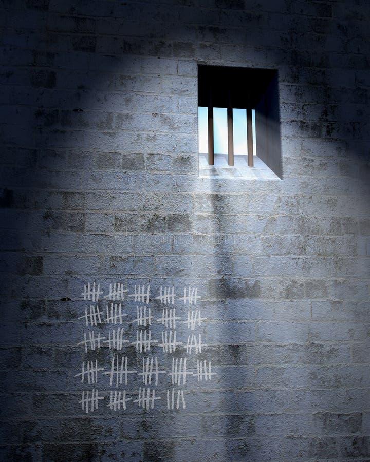 Cella di prigione royalty illustrazione gratis