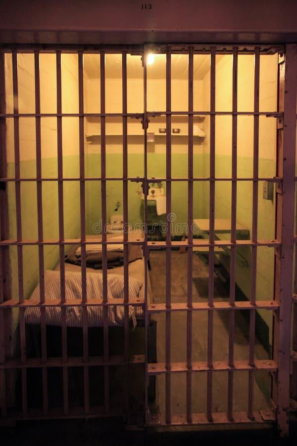 Cella di prigione di Alcatraz fotografie stock libere da diritti