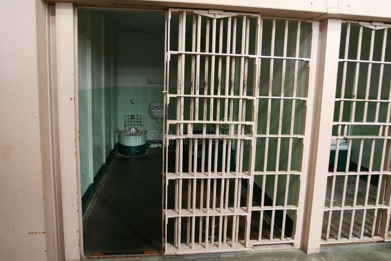 Cella di prigione di Alcatraz fotografia stock