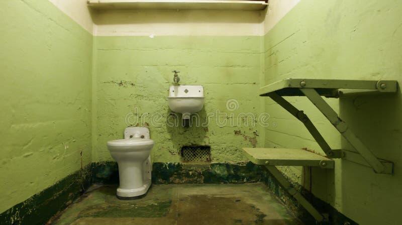 Cella di prigione vuota immagini stock