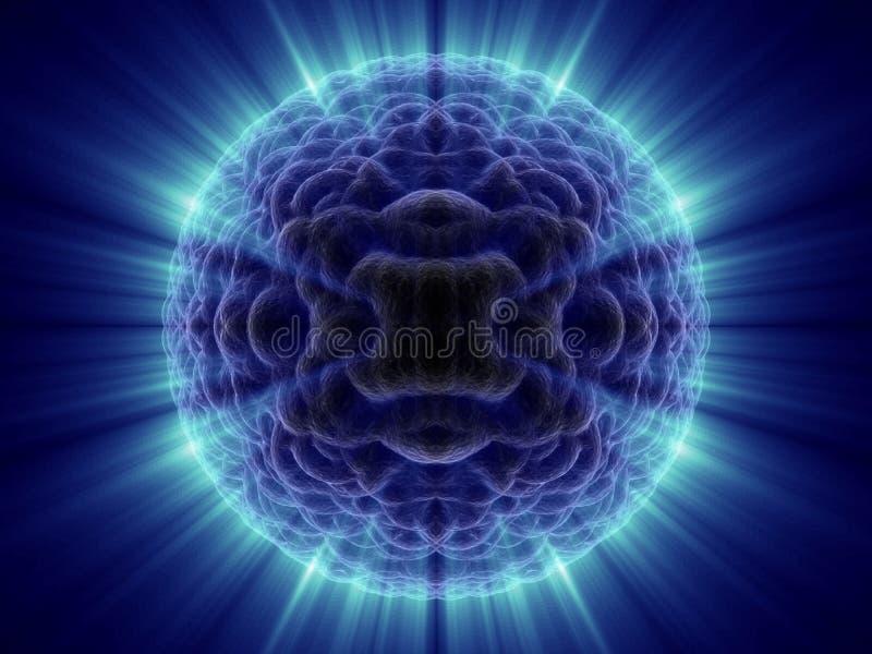 Cella sconosciuta di fantasia straniera la micro con l'azzurro lucida illustrazione di stock