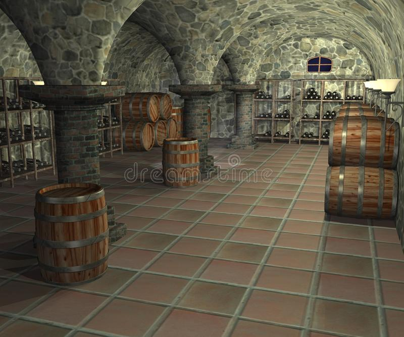 Download Cellar stock illustration. Image of stand, wine, mystery - 11050384