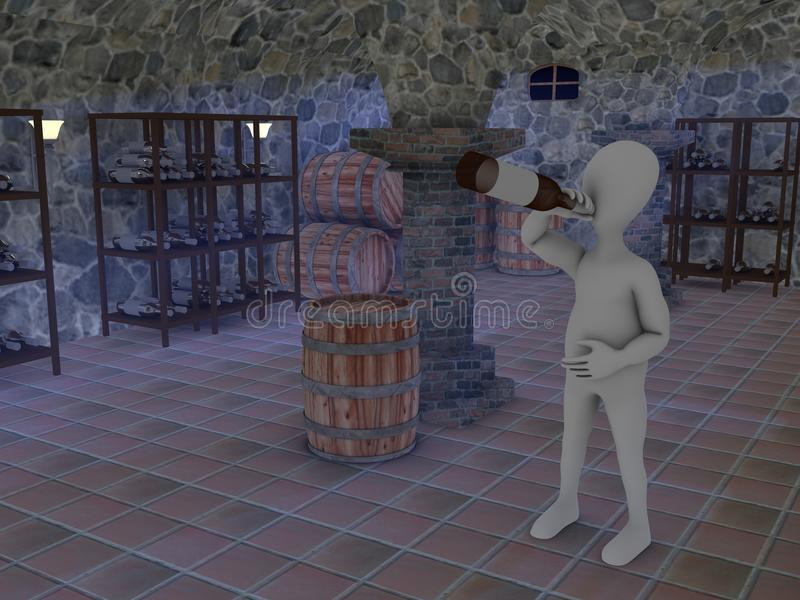 Download Cellar stock illustration. Illustration of warehouse - 13469877