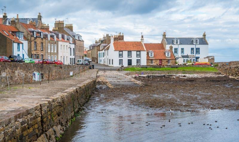 Cellardyke, dorp in het Oosten Neuk van Fife, Schotland royalty-vrije stock foto's