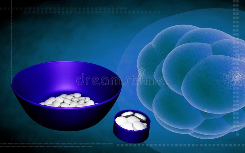 cellbehållare stem tablets royaltyfri illustrationer