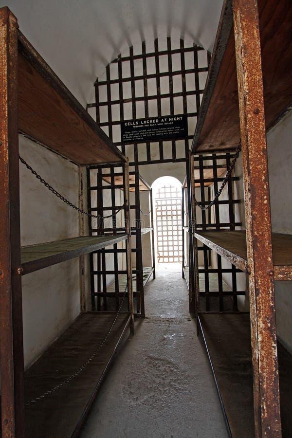 Cellblock histórico de la prisión fotos de archivo libres de regalías