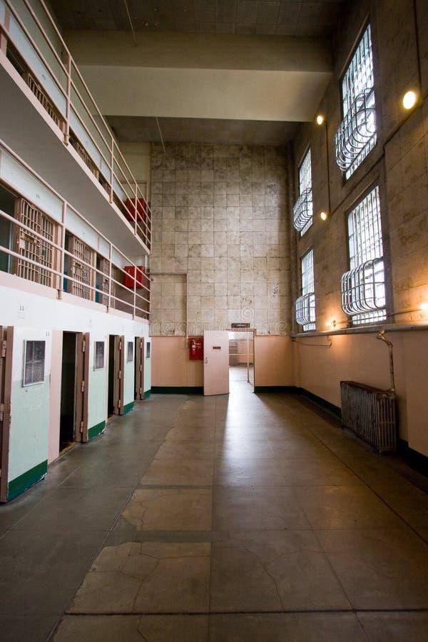 Celle del blocchetto di D a Alcatraz fotografia stock