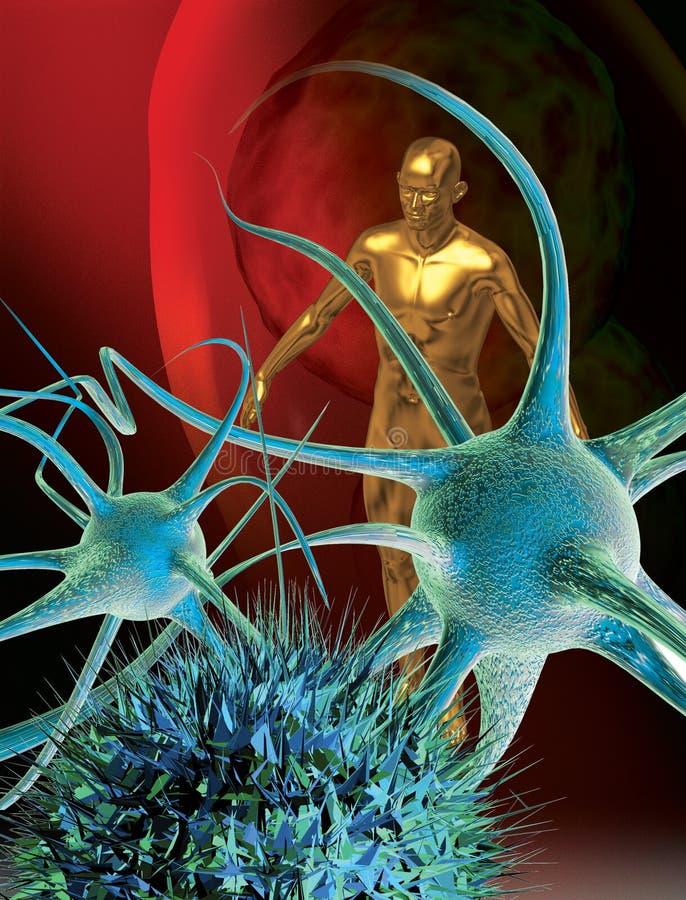 Celle di nervo del cervello illustrazione di stock