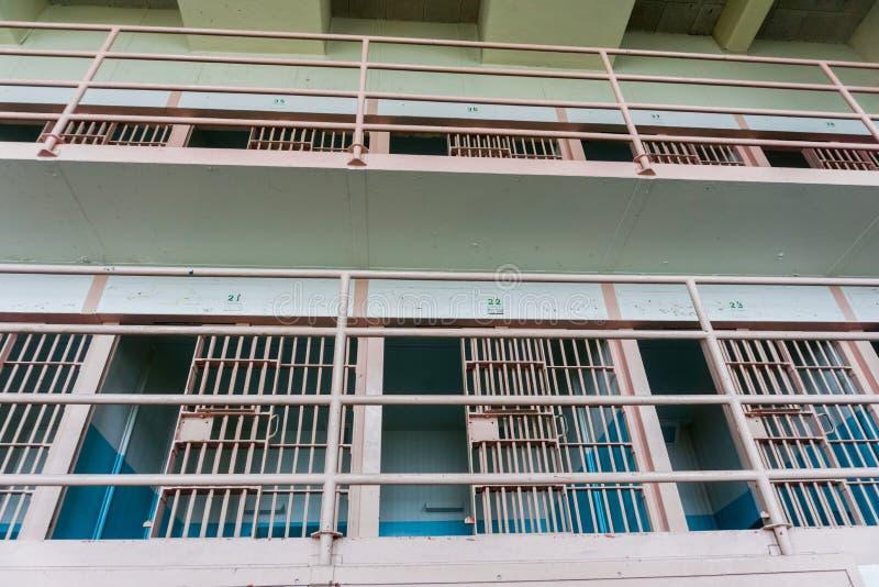 Celle di prigione anziane fotografie stock libere da diritti