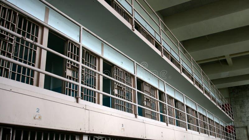 Celle di prigione di Alcatraz immagine stock