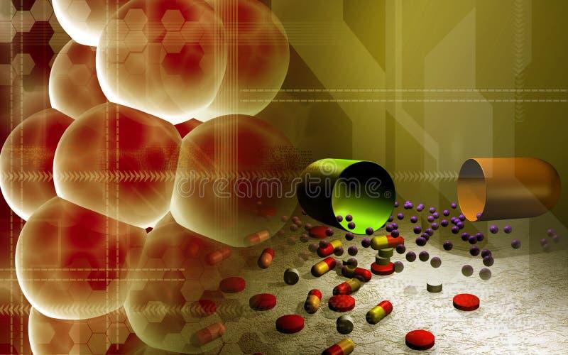 Celle e capsule illustrazione vettoriale