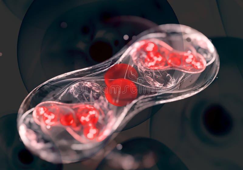 Cellen, bacteriën of virus stock illustratie