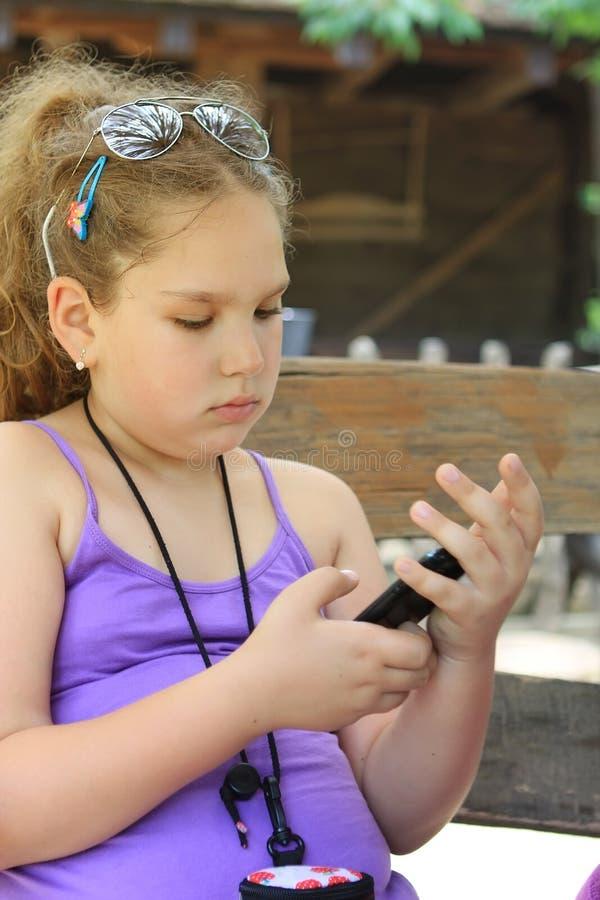 cellflickatelefon arkivbild