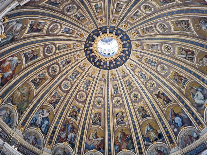 Celling St Peter bazylika, watykan zdjęcia stock