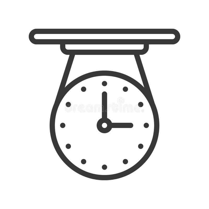 Cellingklockasymbol, PIXEL för slaglängd för översiktsdesign perfekt redigerbart stock illustrationer