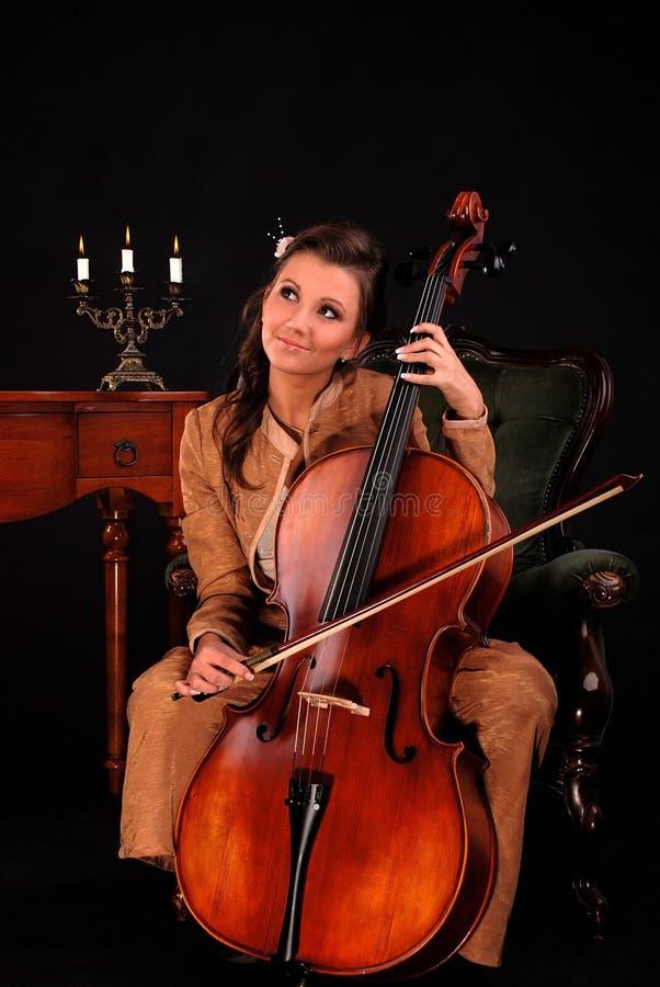 Cellist. stockfoto