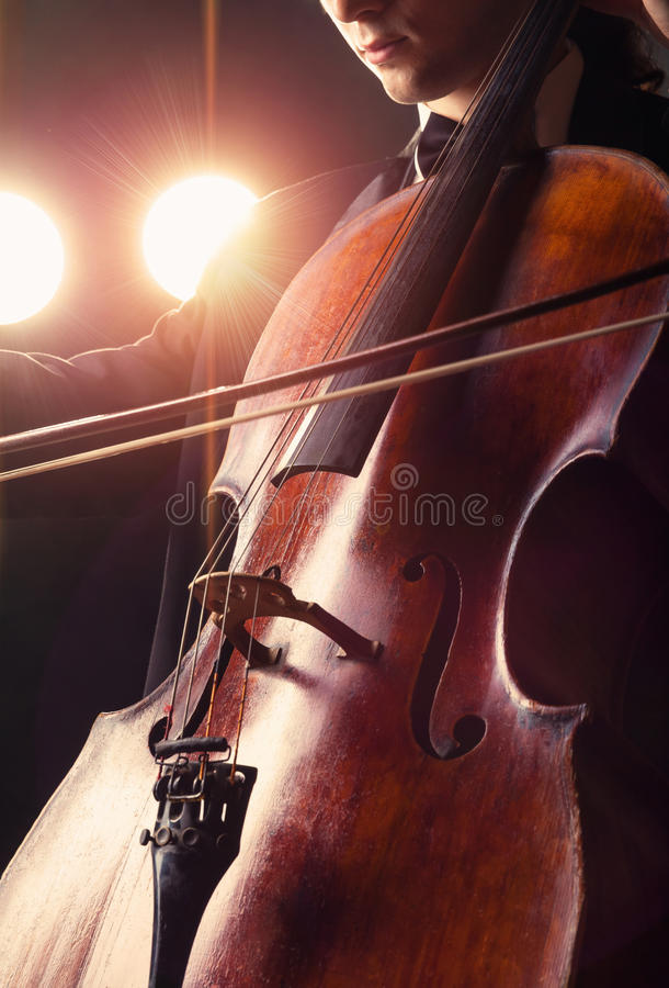 Cellist arkivbild