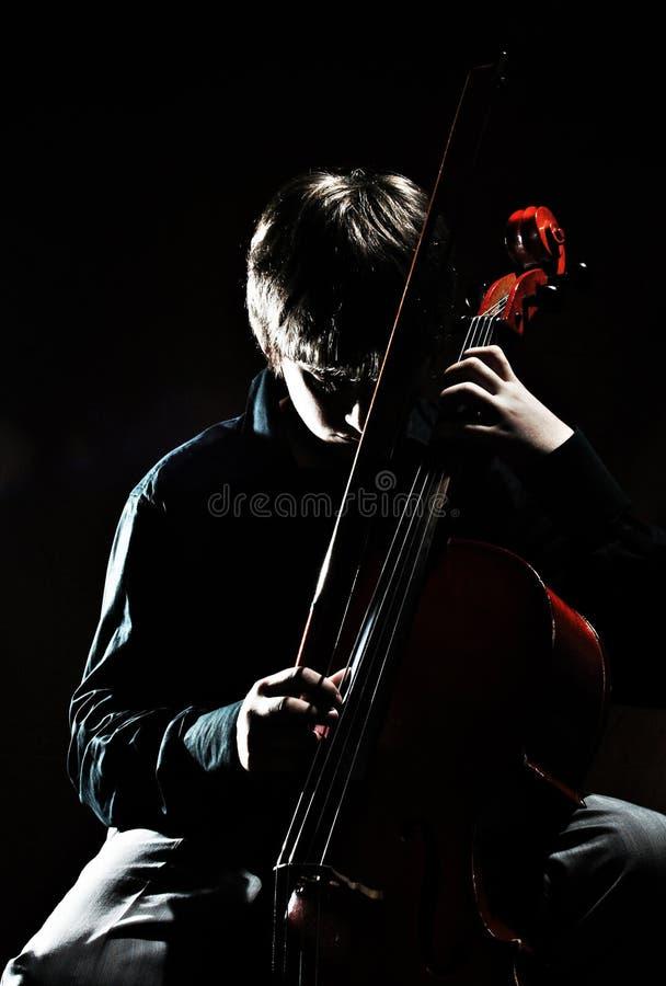 Cellist royalty-vrije stock afbeeldingen