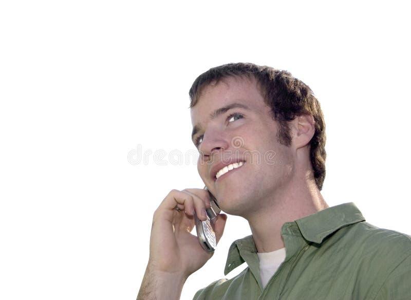 cellkonversationtelefon royaltyfri foto