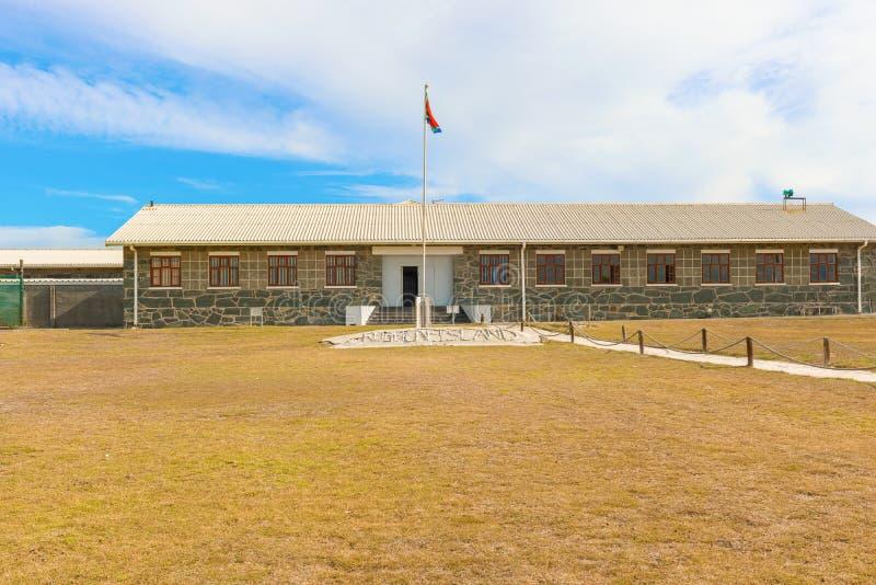 Cellkvarter på den Robben ön av kusten av Cape Town som är västra arkivbild