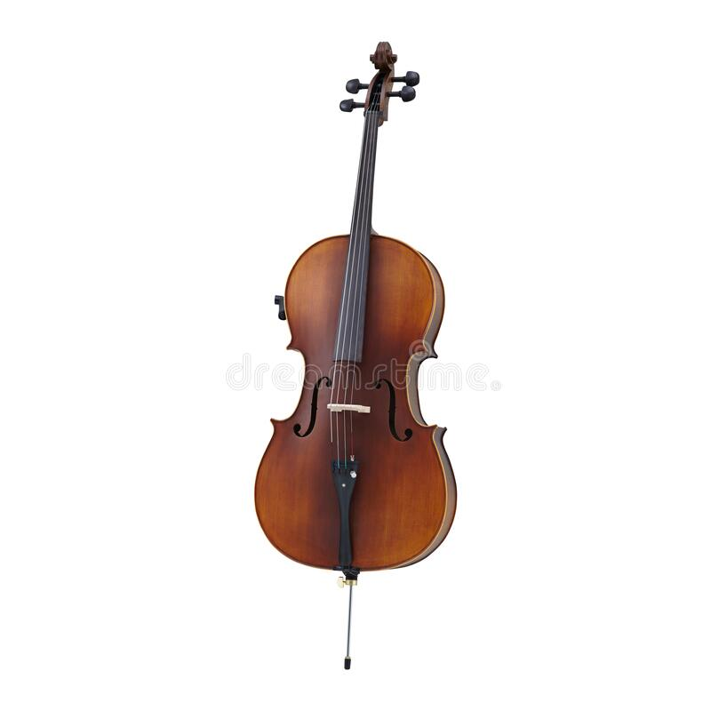 Cello, Cellos, Classic Music Instrument Isolated on White background, Musician. Cello Music Instrument Isolated on White background stock image