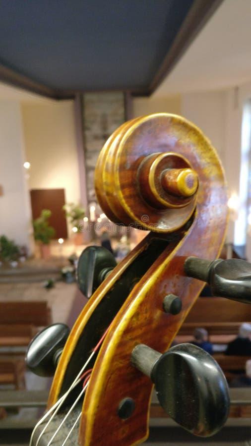 Cello church stock photo