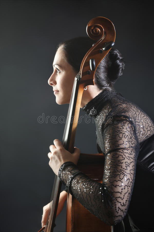 Cello classical musician cellist stock image
