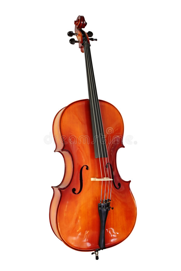 Cello with Clipping Path royalty free stock photography