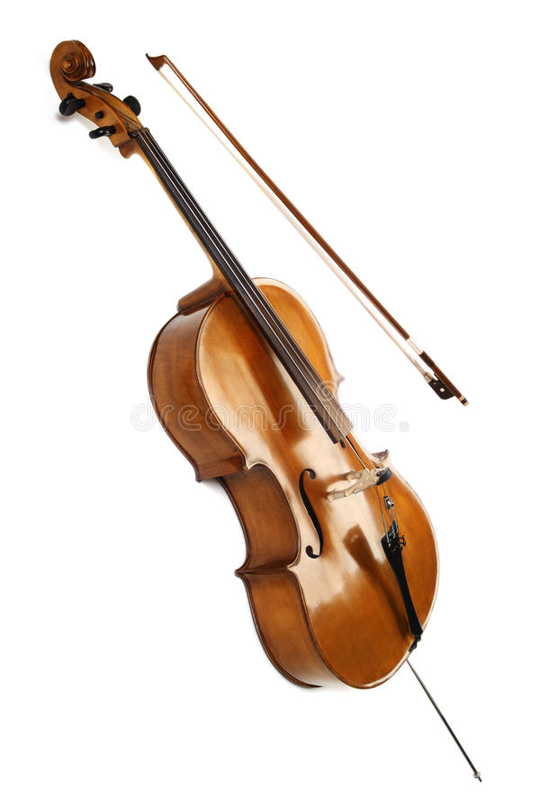 Cello isolated on white. Cello orchestra musical instruments isolated on white royalty free stock images
