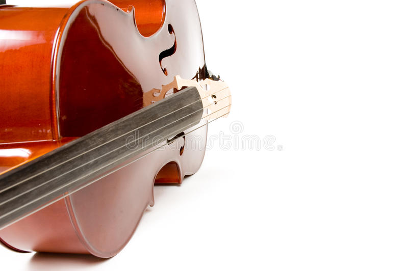 Cello, isolated on white with shadow. Cello, isolated on white background with shadow royalty free stock photography