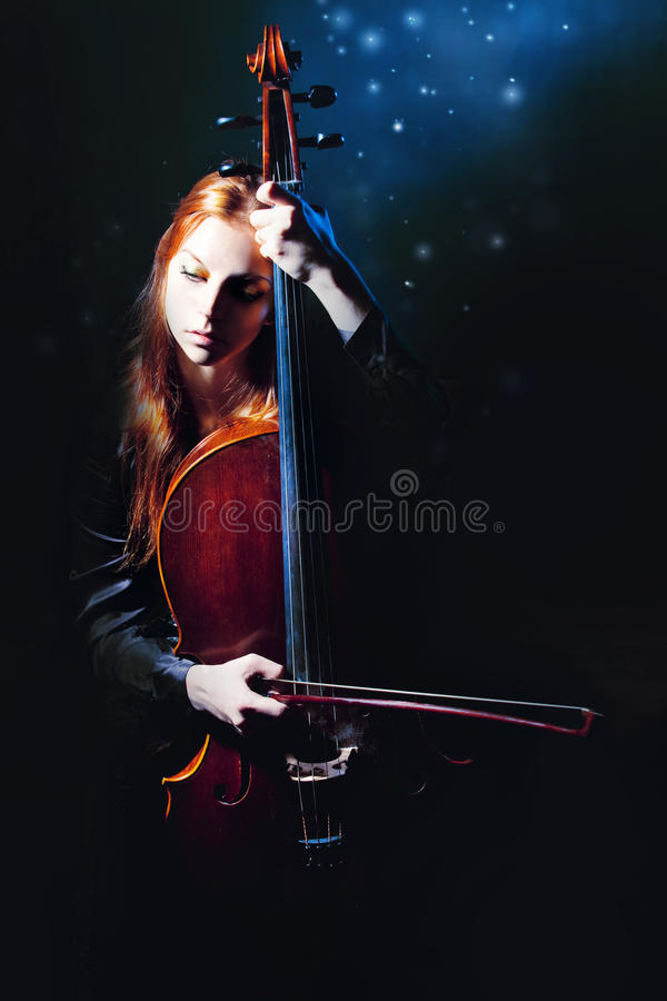 Download Cello Musician, Mystical Music Stock Image - Image: 16761331