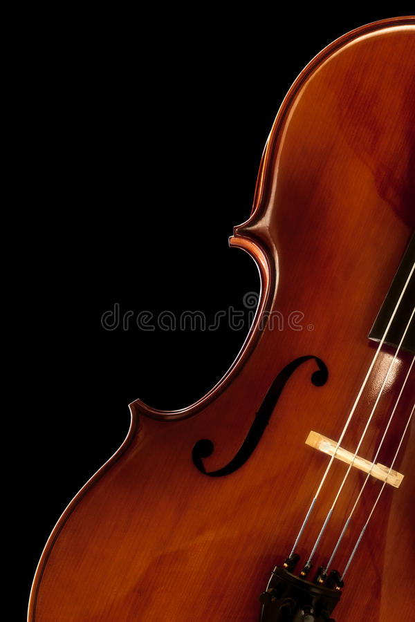 Cello over Black royalty free stock image