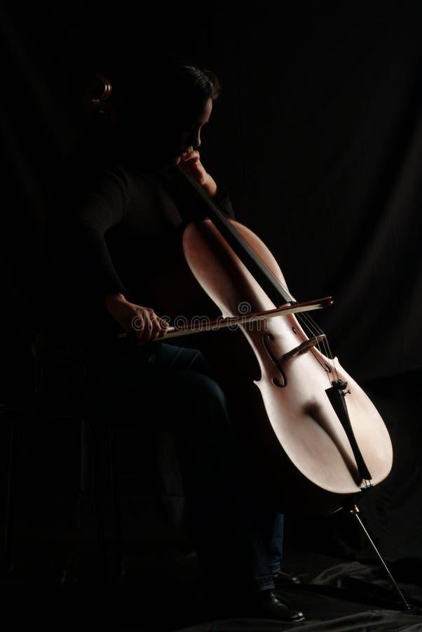 Cello player stock photography