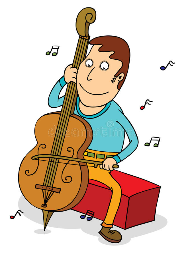 Download Cello player stock vector. Image of musician, harmony - 32561422