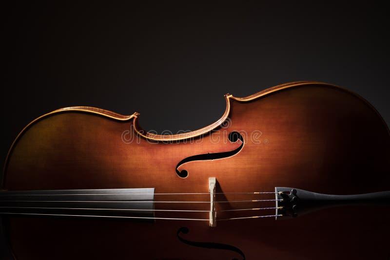 Cello silhouette royalty free stock photos