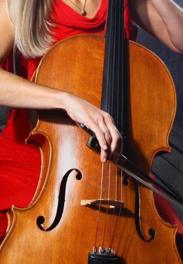 Cellomusiker stockfotografie