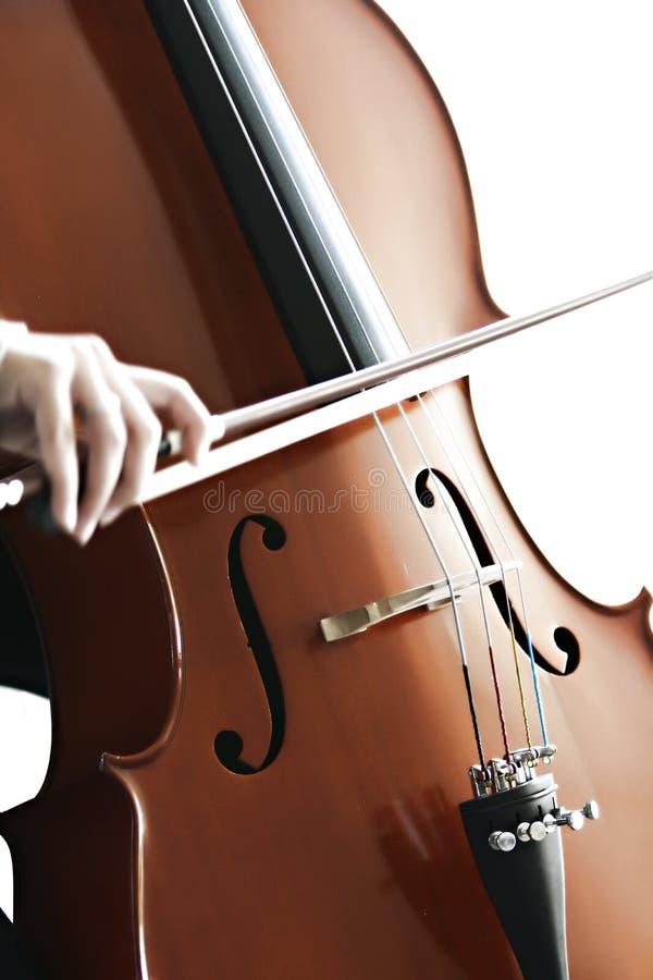 Cellospielen stockfotografie