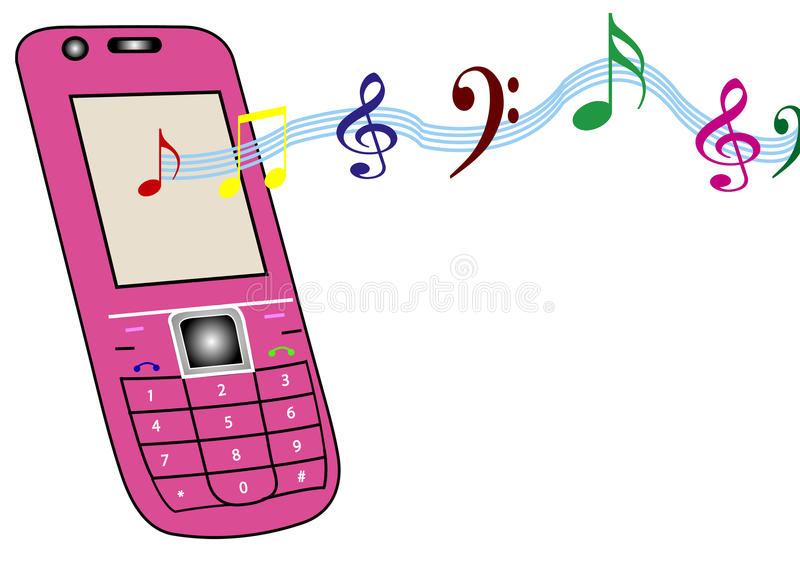 Download Cellphone stock illustration. Image of download, button - 11537768