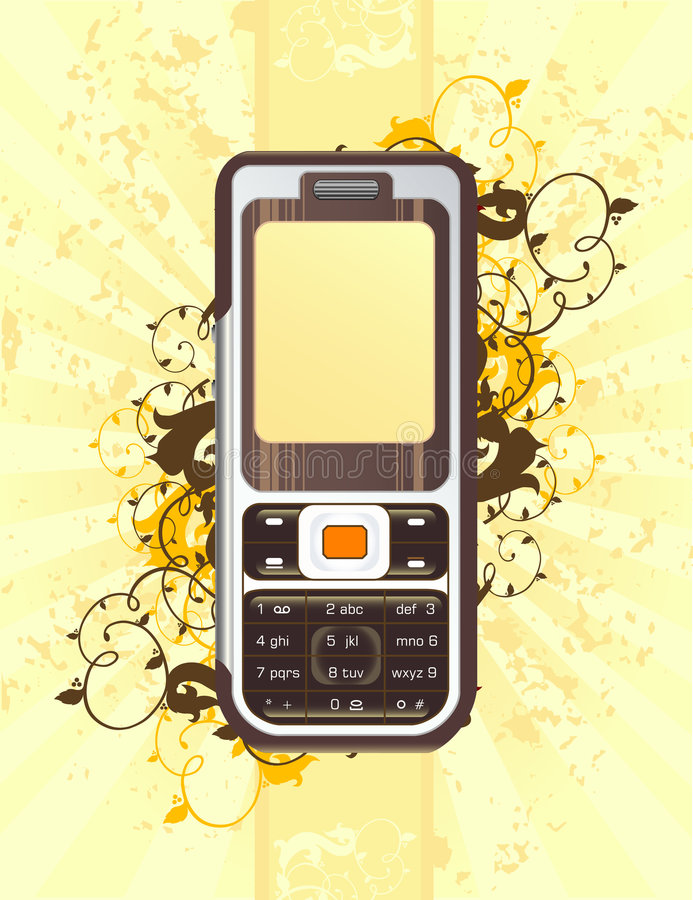Download Cellphone stock vector. Image of cellphone, shadow, case - 4426360